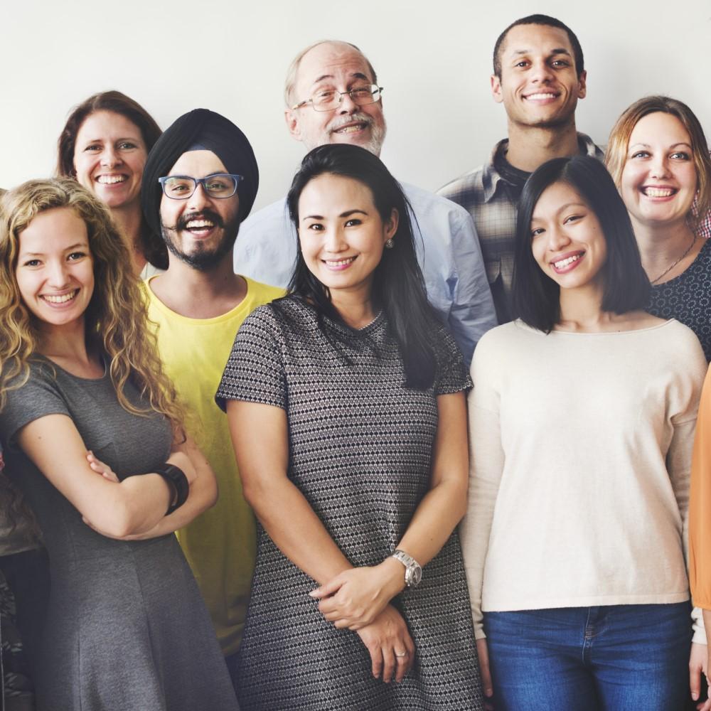 diverse work team